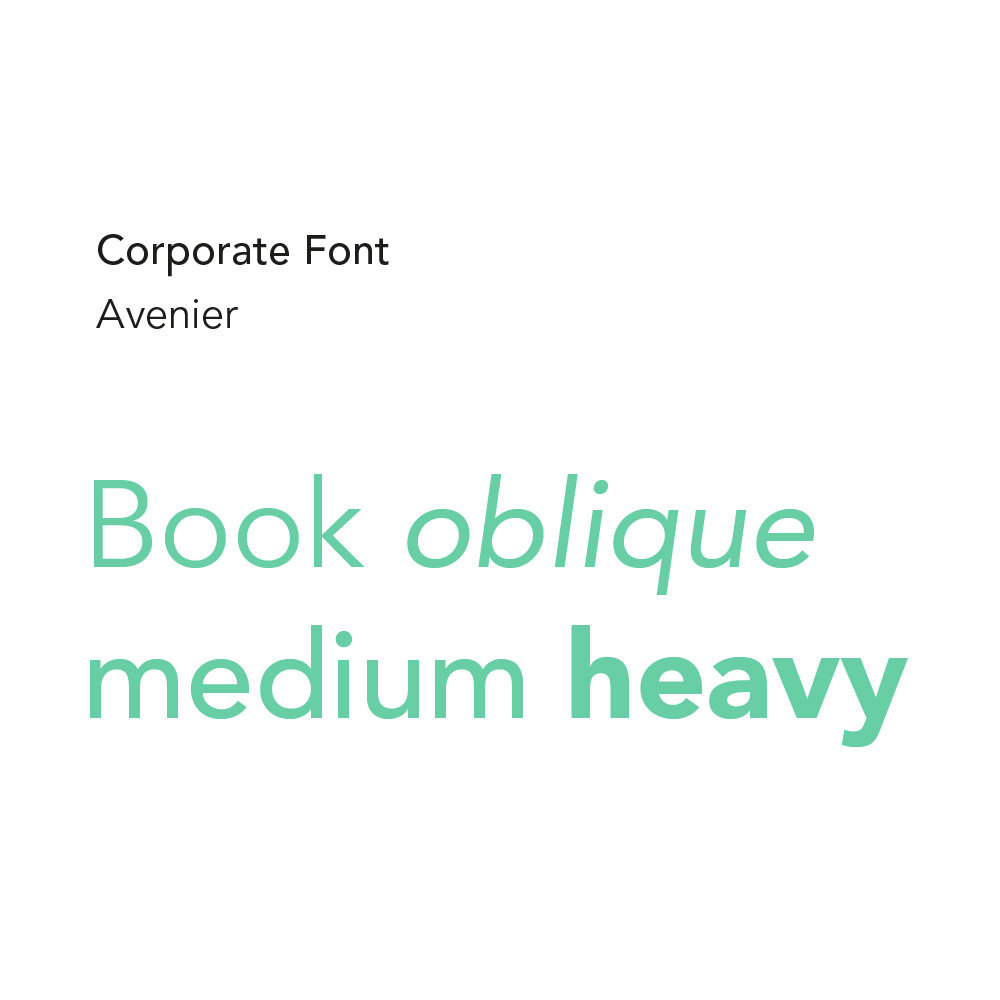Corporate Design Schriften