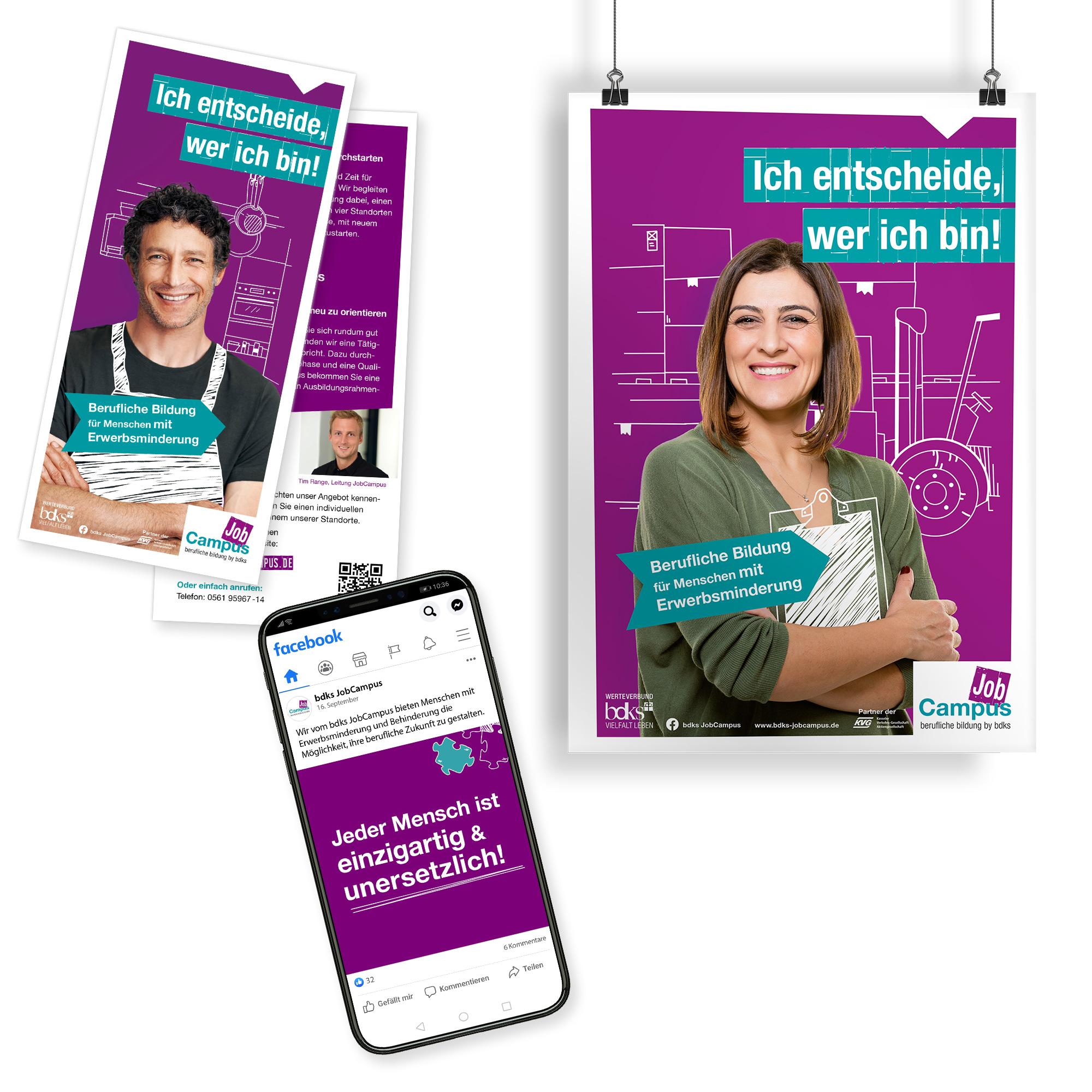 Facebook Auftritt bdks JobCampus Vermarktungskampagne