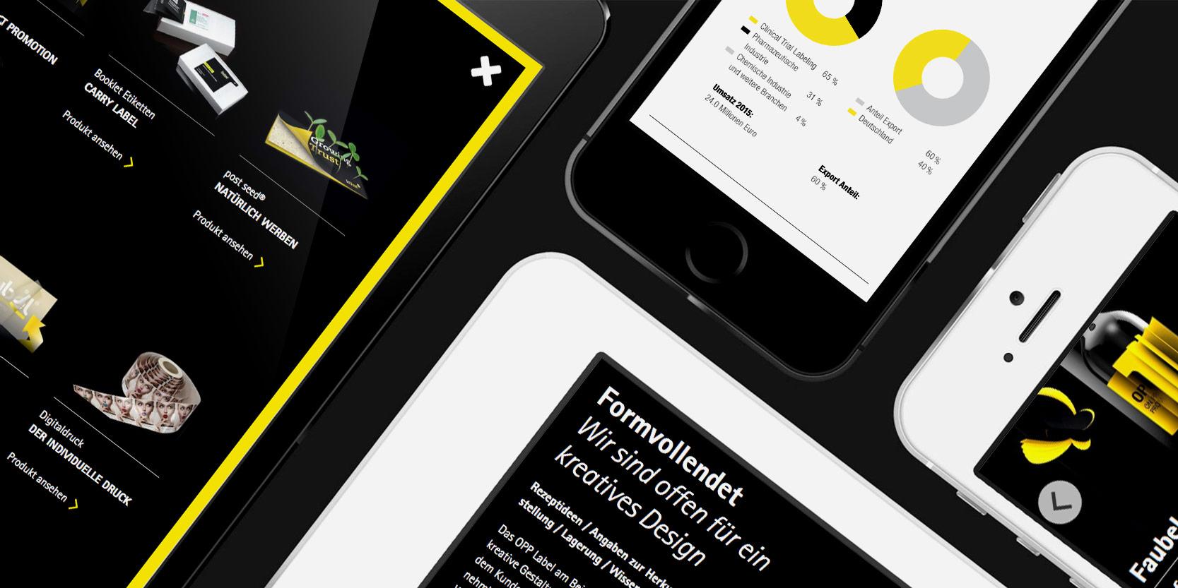 Mobile Variante der faubel Website