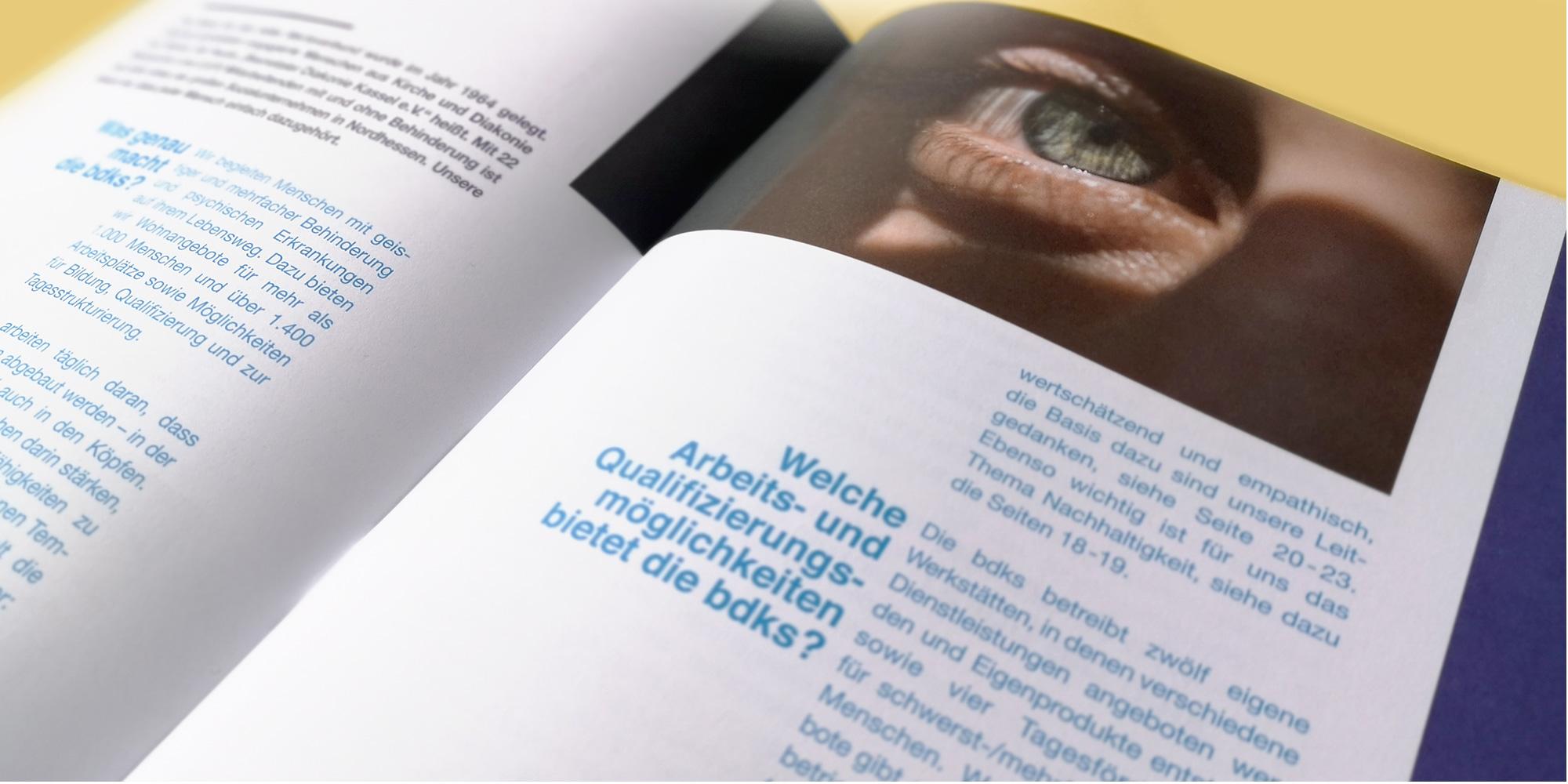 Intro auf den Innenseiten der bdks-Imagebroschüre Werbeagentur formtugend