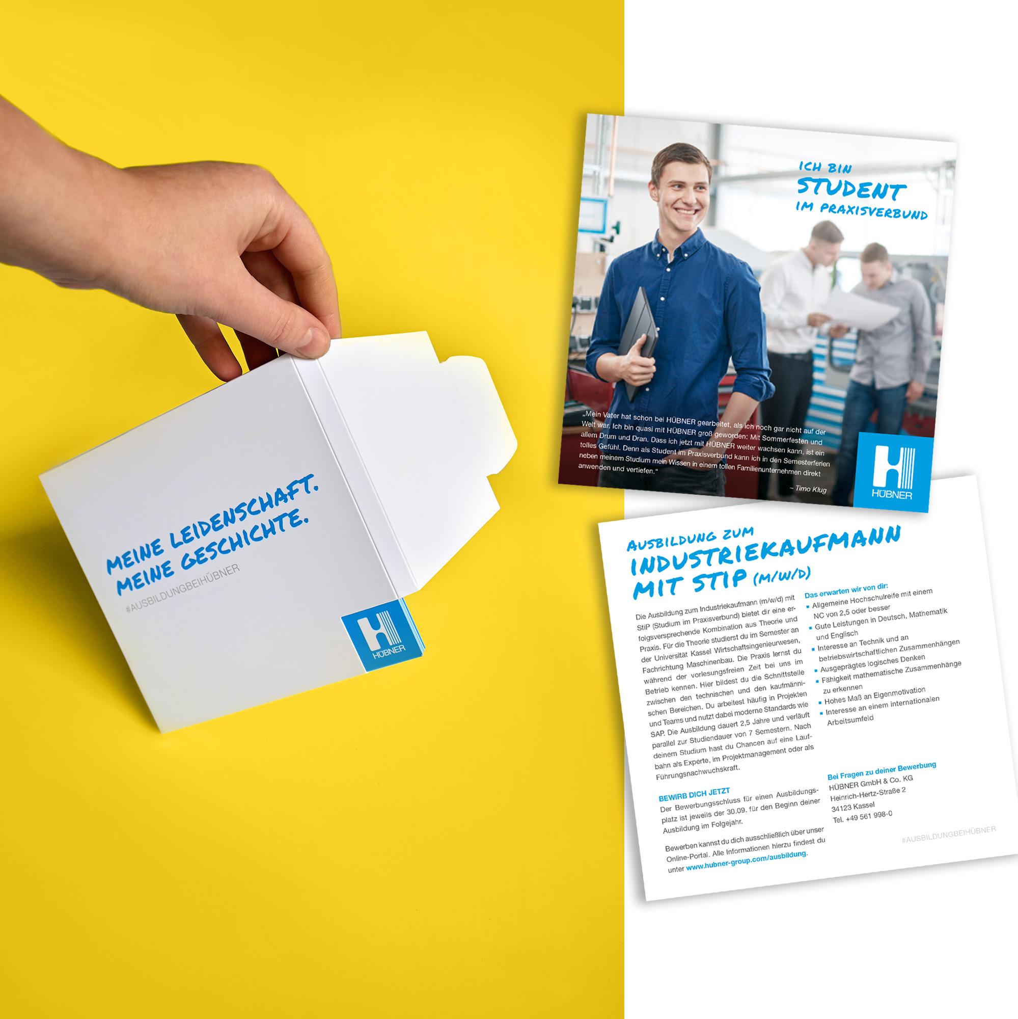 Hübner Ausbildungsbroschüre mit modularen Karten