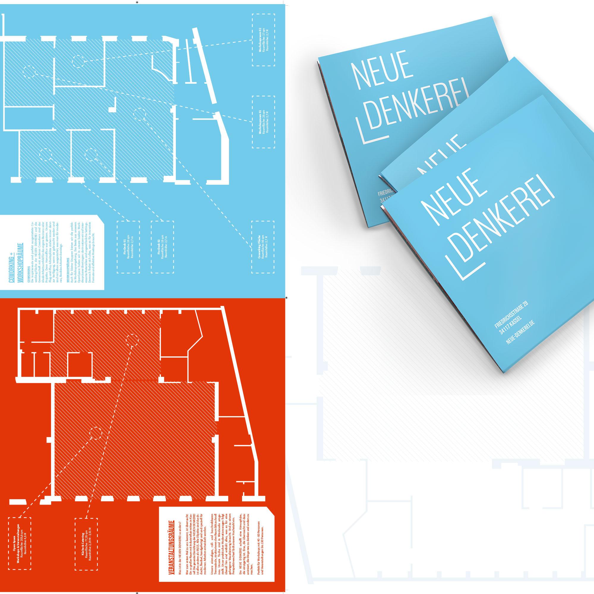 Die Rückseite der Imagebroschüre Neue Denkerei