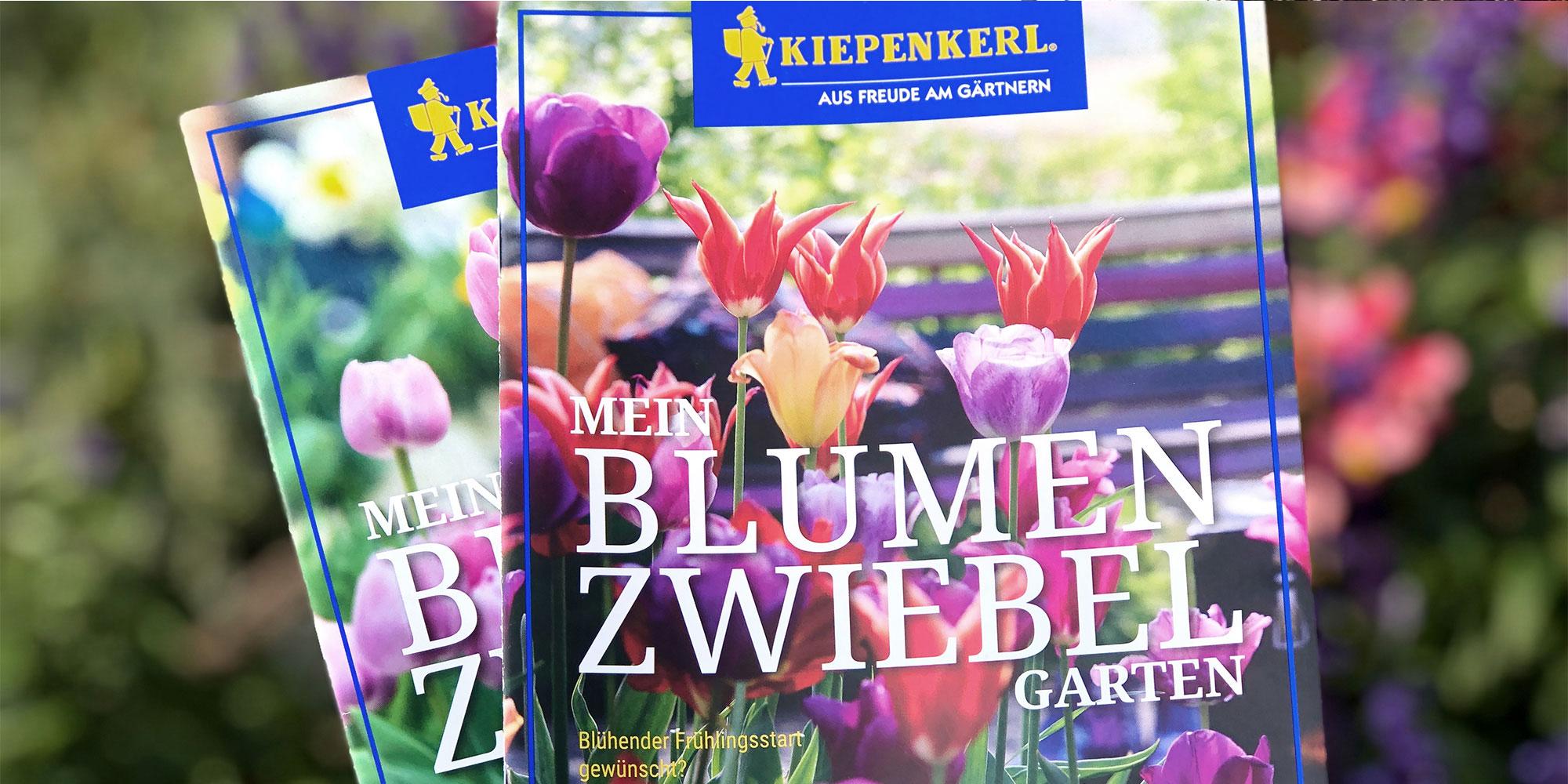Titelmotive der Kiepenkerl Blumenzwiebelbroschüre